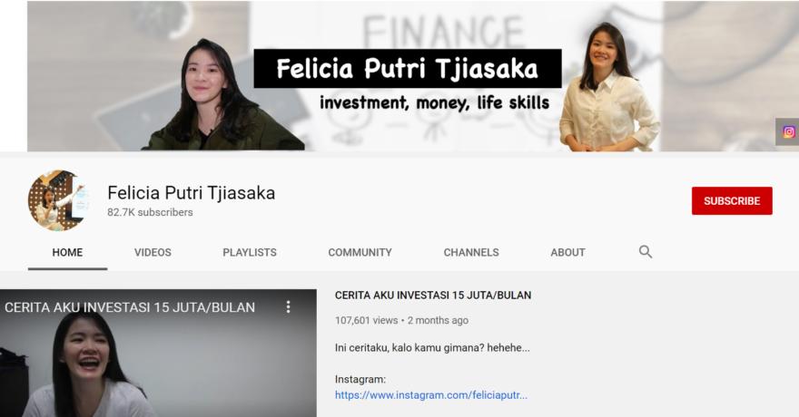 felicia putri youtuber membahas investasi